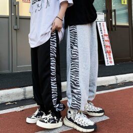 White Tiger Side Line Aesthetic Pants