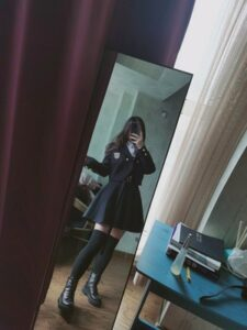 Dark Academia Suit Strap Dress with Jacket photo review