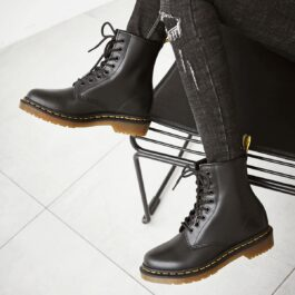 Black Alt Girl Martens Boots 8 Hole High