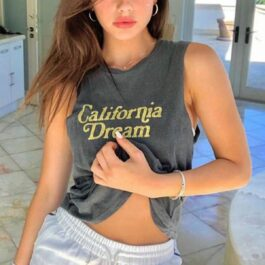 California Dream Sleeveless Vest Top