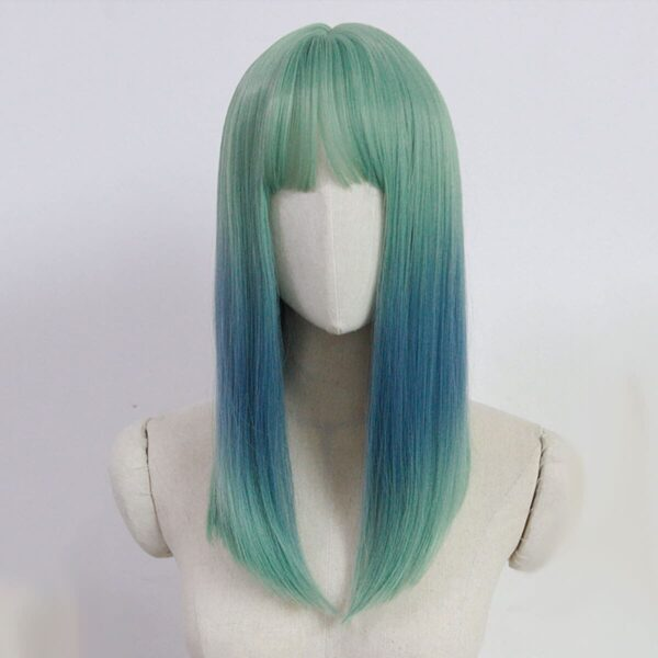 Green and Blue Gradient Pastel Punk Wig