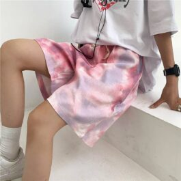 Soft Tie Dye Retro Aesthetic Shorts