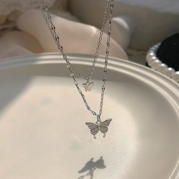 Korean pring Butterfly Necklace