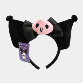 Kuromi Hair Band Black Ears Pink Skull