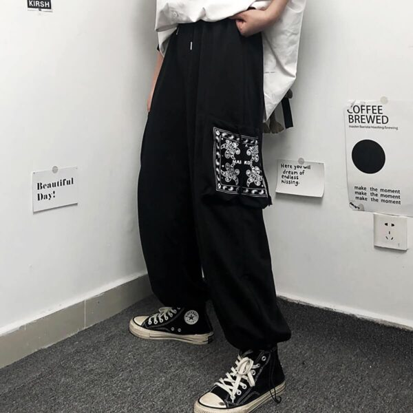 Paisley Pocket Patch Aesthetic Pants