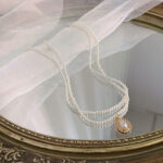 Vintage Baroque Style Double Pearl Necklace