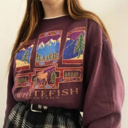 Whitefish Montana Vintage Aesthetic Pullover