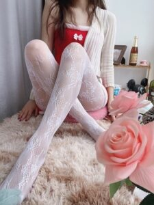 Lace Floral Babygirl Aesthetic Pantyhose photo review