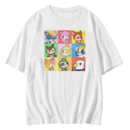 Animal Crossing Anime Characters White T-Shirt