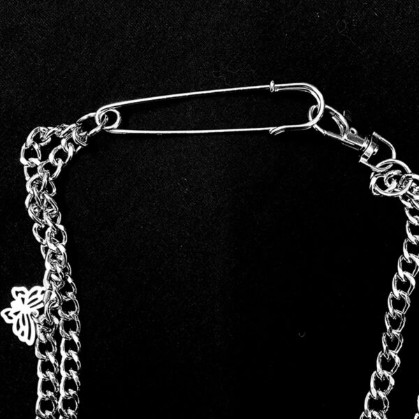 Crosses and Butterflies Grunge Chain Necklace