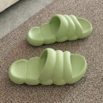 Inflated Stripes Slippers Thick Bottom Slides