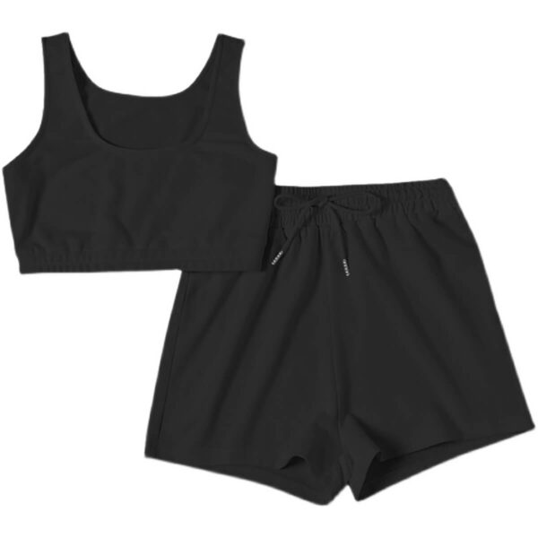 Workout Aesthetic Fitness Shorts and Top Set