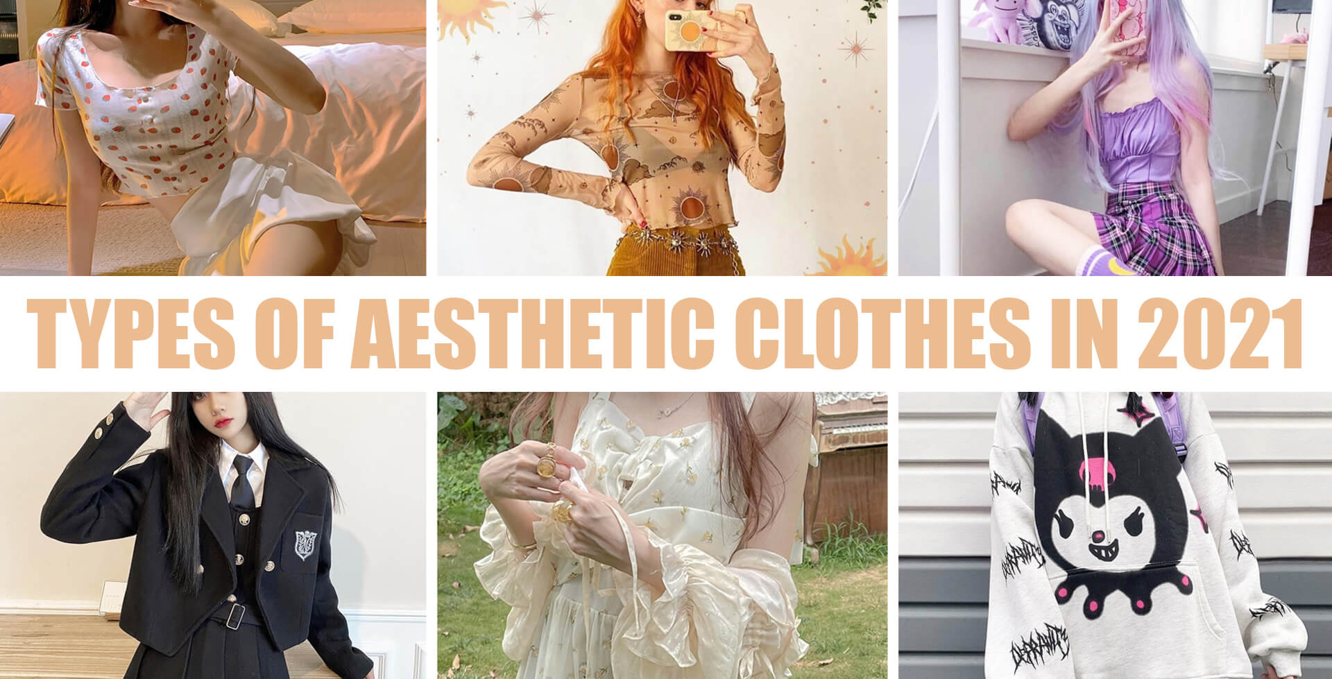 Types of Aesthetic Clothes and Beauty Styles in 2021 - Orezoria Blog - Thumbnail