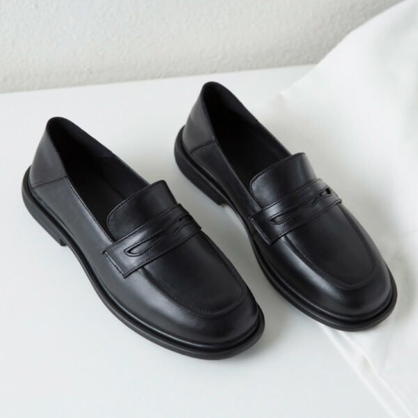 Back British Style Eco Leather Loafers
