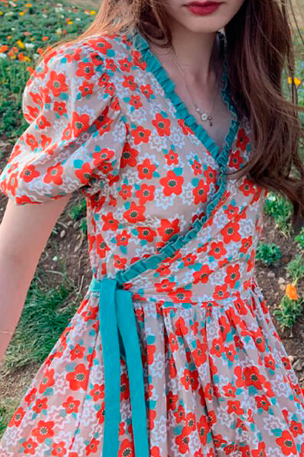 French Contrast Floral Warmcore Dress