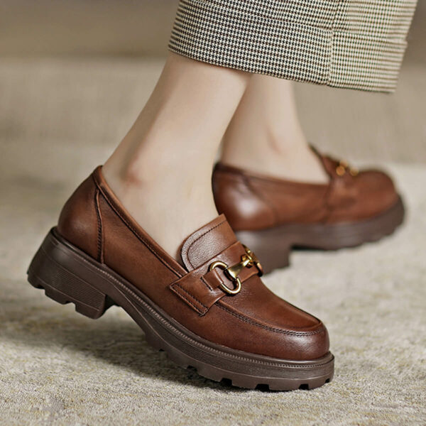 Light Academia Retro Loafers Shoes