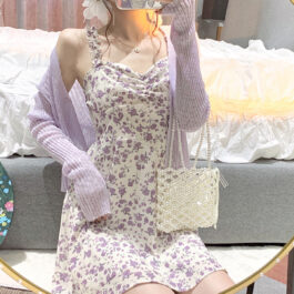 Lilly Purple Floral Soft Girl Dress (4)