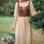 Medieval French Pastoral Cottagecore Dress