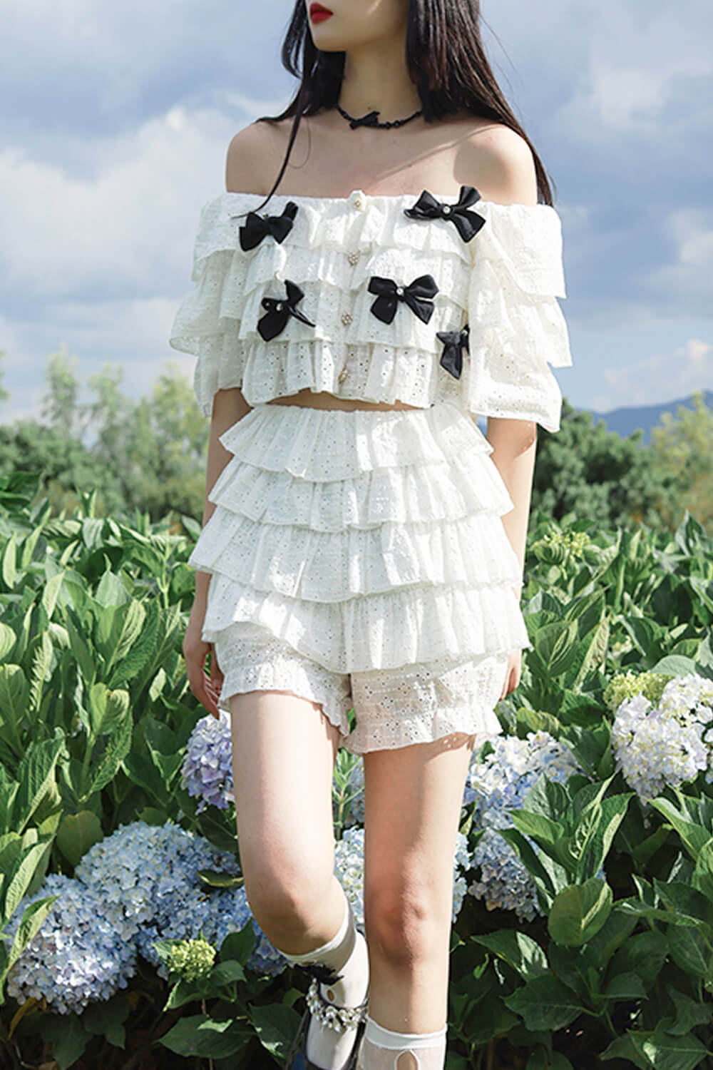 Multi Layer Ruffled Fairycore Top and Shorts
