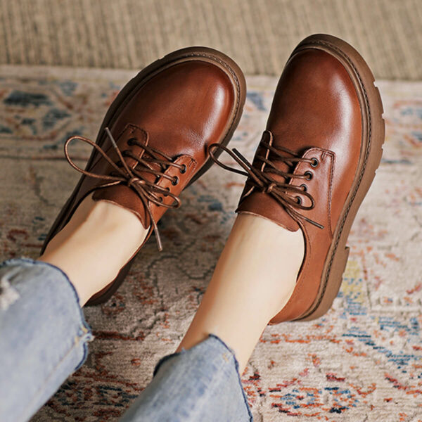Retro Eco Leather Martens Style Shoes