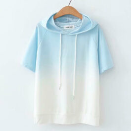 Smooth Gradient Soft Girl Hooded Shirt p (1)