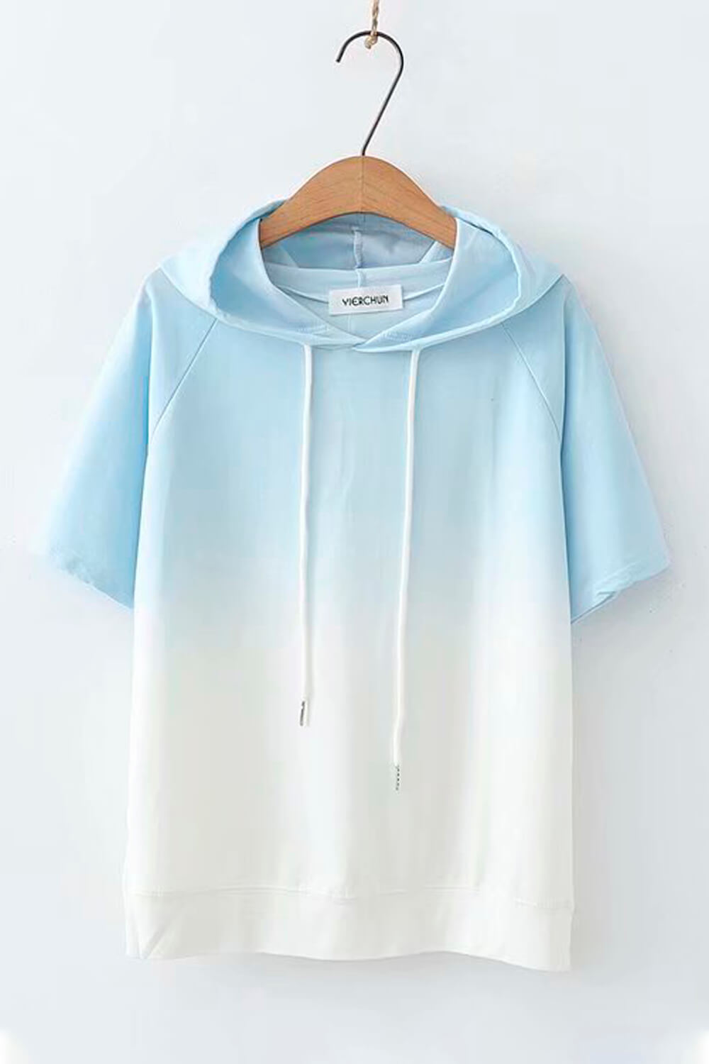 Smooth Gradient Soft Girl Hooded Shirt - Aesthetic Clothes, EGirl Outfits - Orezoria Shop