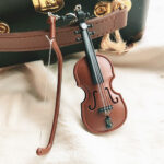 Violin and Bow Model Earrings Stud or Clips