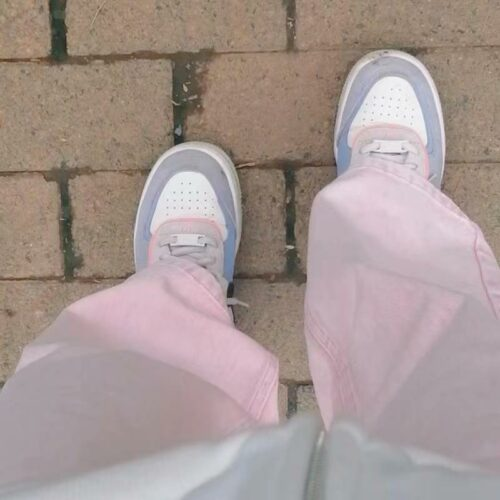 Soft Pink Straight Wide EGirl Aesthetic Jeans photo review