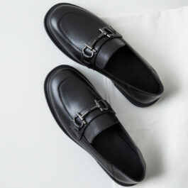 Chaotic Academia British Style Black Shoes