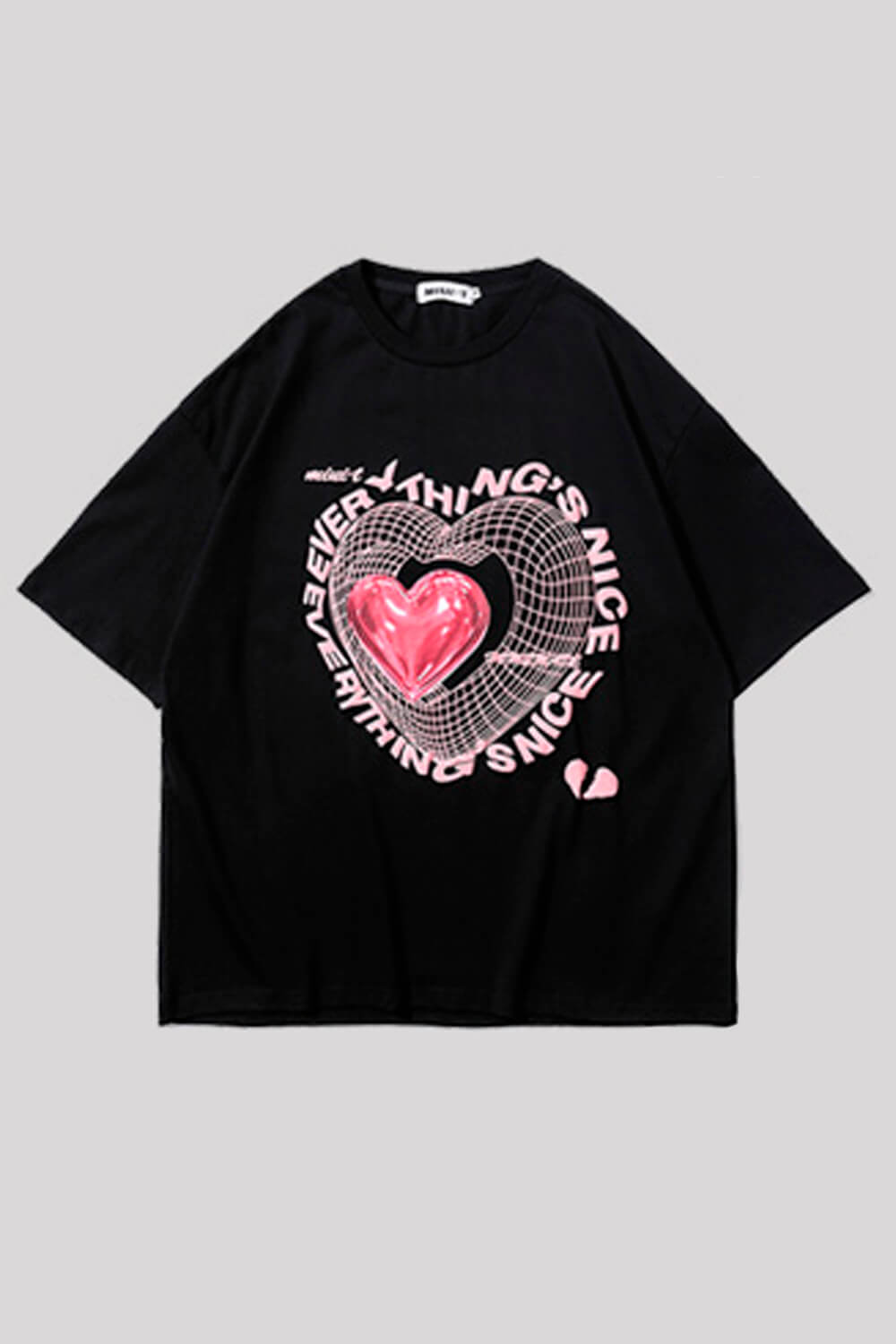 Everything is Nice Heart 3D Mesh T-Shirt