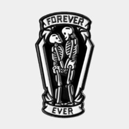 Forever Ever Skeleton Married Couple Pin