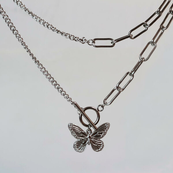 Grunge Butterfly Aesthetic Chain Necklace