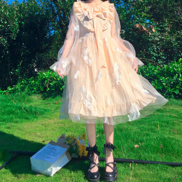 Sweet Lolita Flying Feathers Bow Fairy Dress