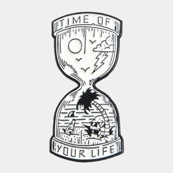 Time of Your Life Sand Clock Enamel Pin